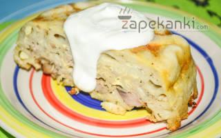 Запеканка из макарон с курицей и сыром