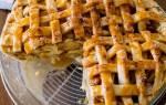 Простой яблочный пирог с соленой карамелью