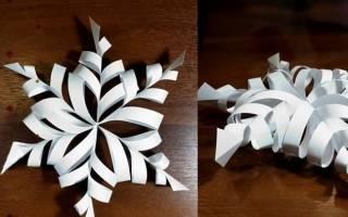 3D-снежинки: 5 быстрых вариантов