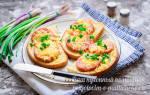 Запеченный бутерброд с ветчиной и сыром
