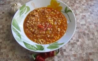 Суп с кукурузой и фасолью по-мексикански