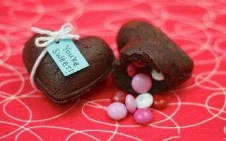 Брауни ко Дню Святого Валентина