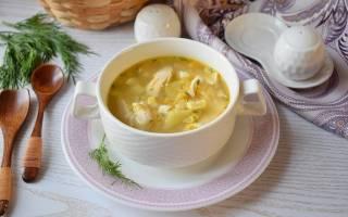Яичный суп с курицей