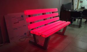 Светящаяся скамейка