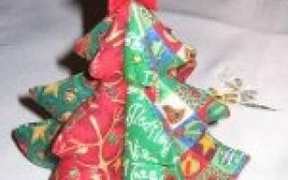 Елочка из ткани своими руками – пошаговый мастер-класс с фото