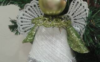 Как сделать рождественского ангела своими руками: мастер-класс с фото