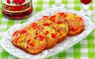 Закуска из хлеба с сыром