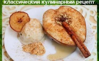 Запеченные груши с орехами и медом