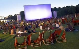 Как организовать кинотеатр на открытом воздухе